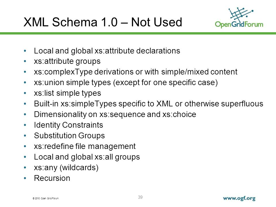 XML Schema 1.0 – Not Used Local and global xs:attribute declarations
