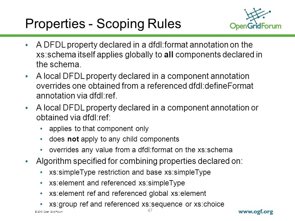Properties - Scoping Rules