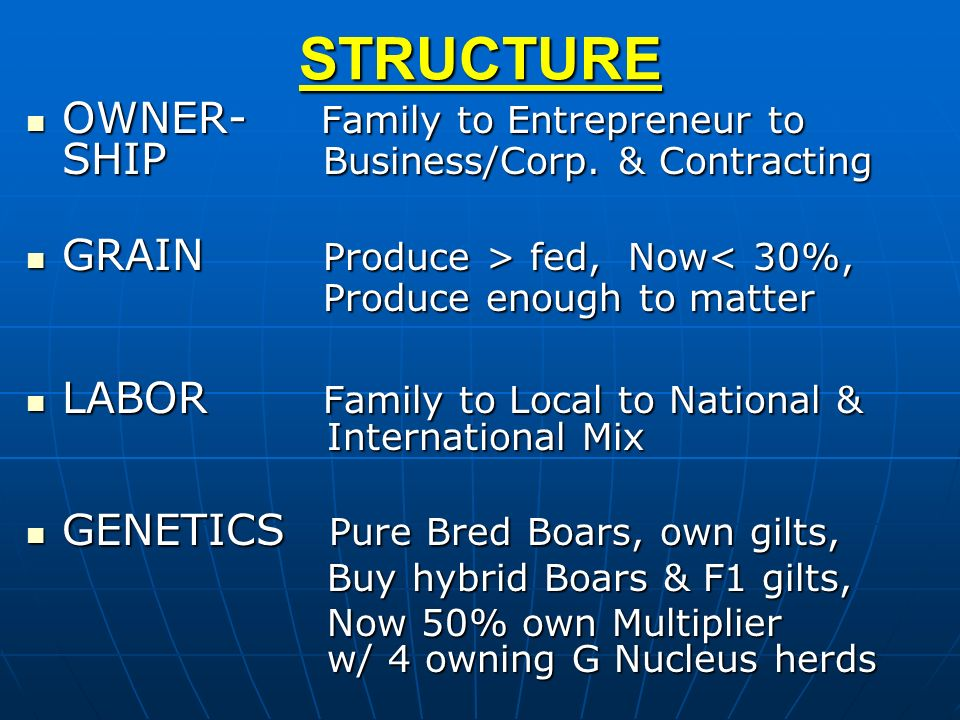 STRUCTURE OWNER- Family to Entrepreneur to SHIP Business/Corp. & Contracting.