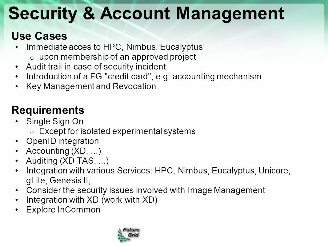 Security & Account Management