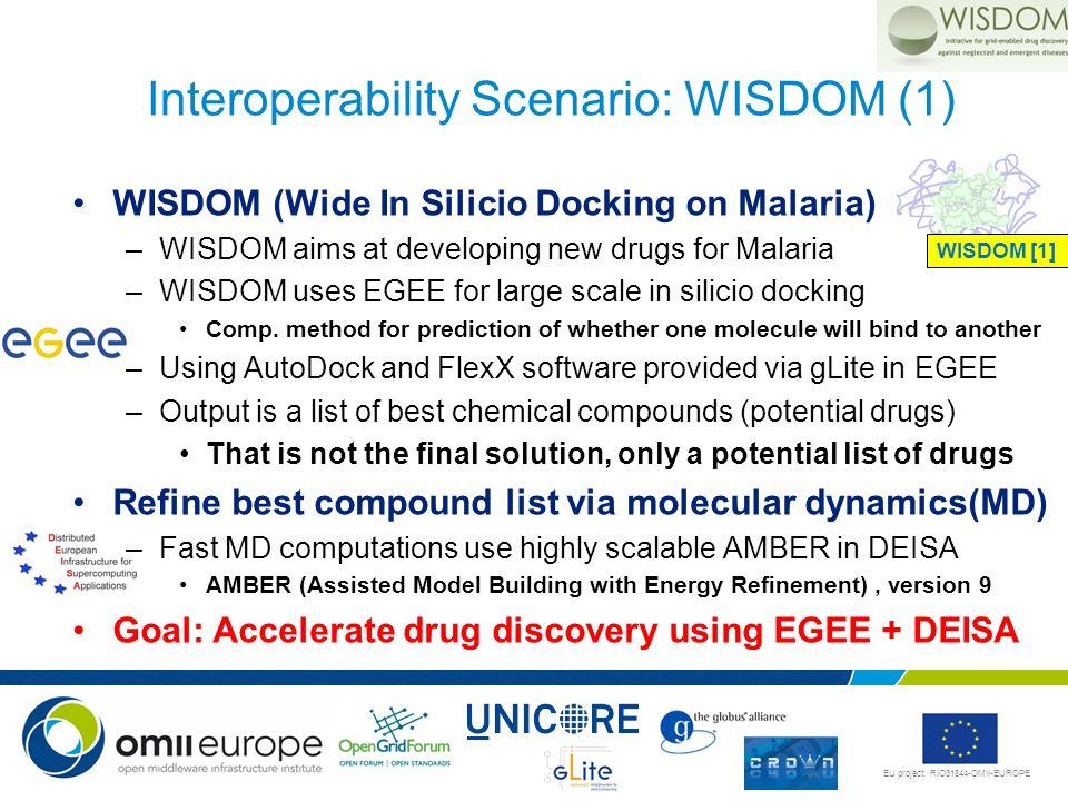 Interoperability Scenario: WISDOM (1)