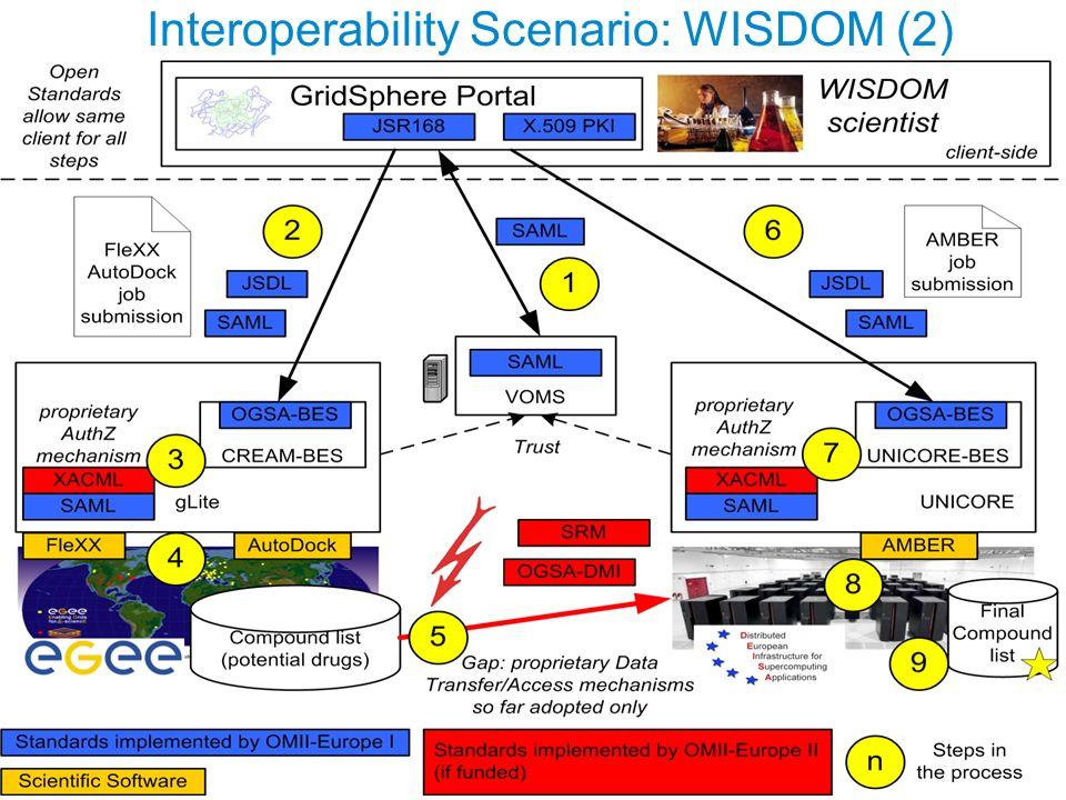 Interoperability Scenario: WISDOM (2)