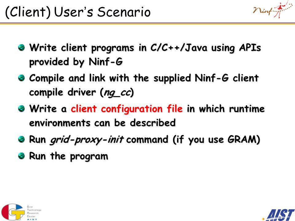 (Client) User's Scenario