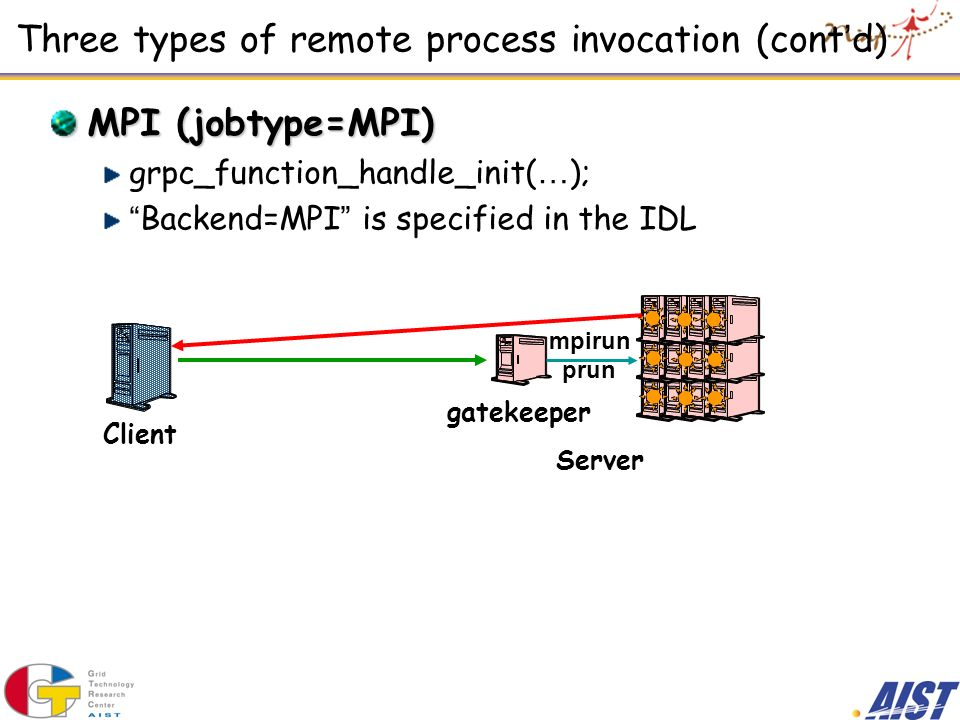 Three types of remote process invocation (cont'd)