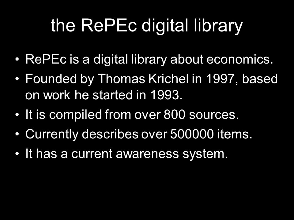the RePEc digital library