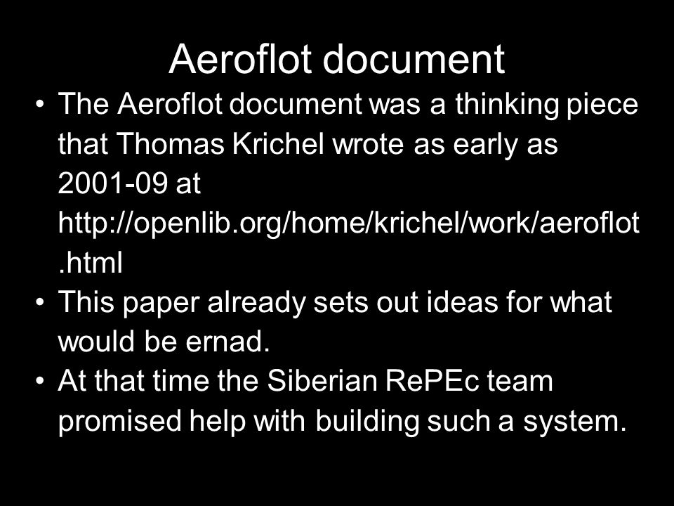 Aeroflot document