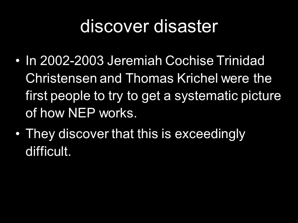 discover disaster