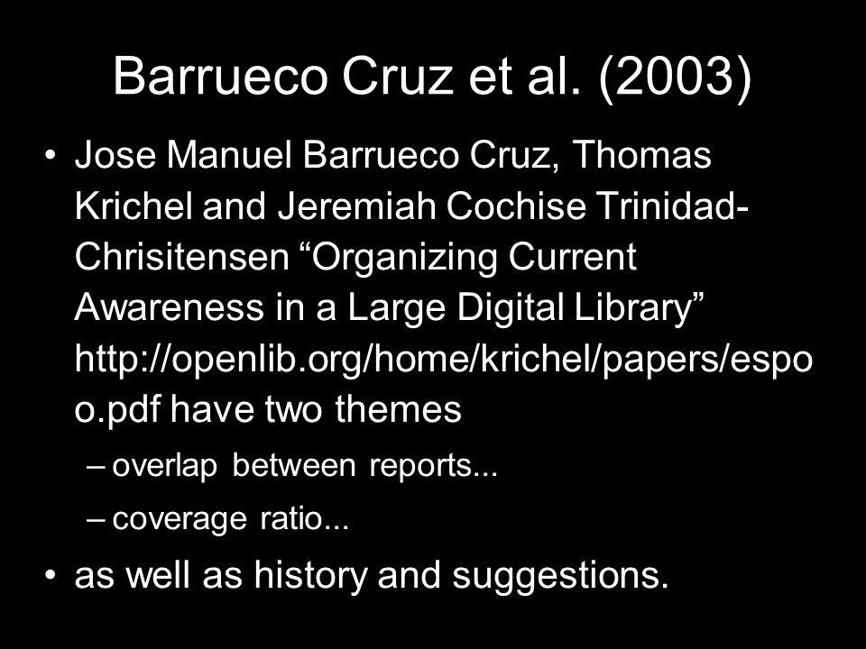 Barrueco Cruz et al. (2003)