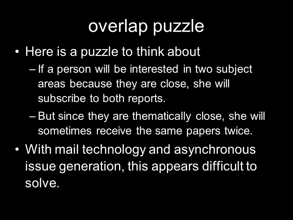 overlap puzzle Here is a puzzle to think about