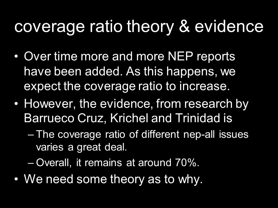 coverage ratio theory & evidence