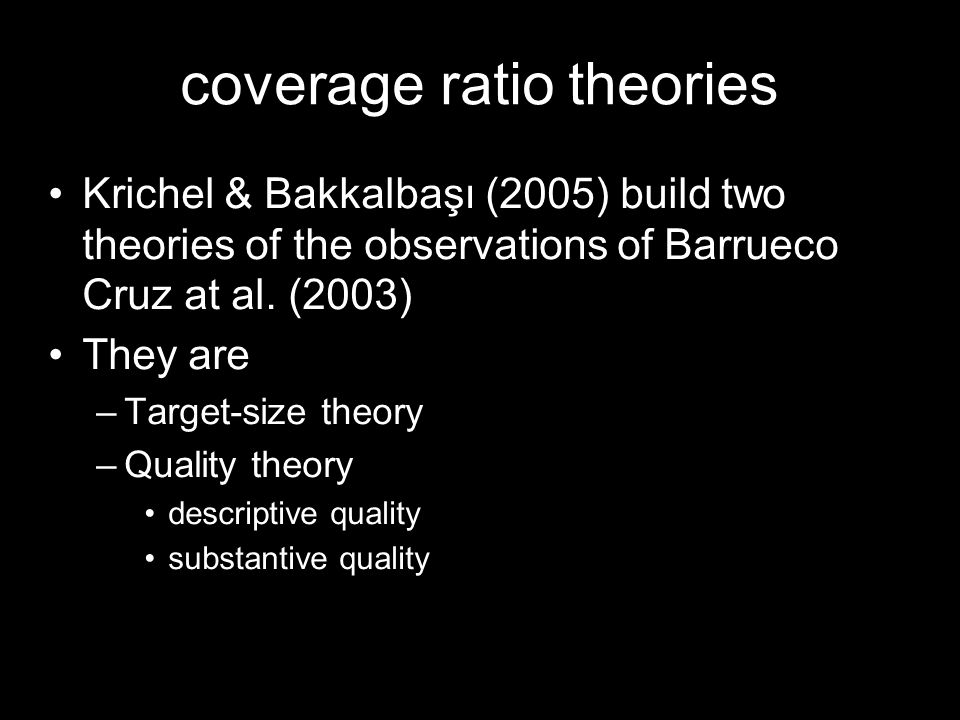 coverage ratio theories