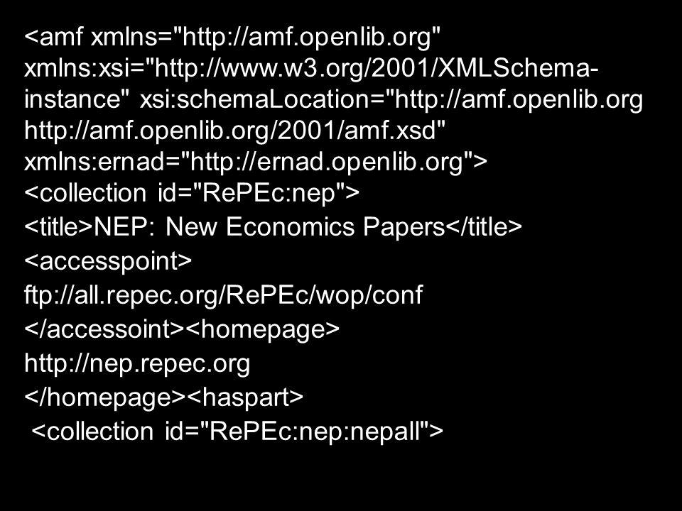 <amf xmlns= http://amf. openlib. org xmlns:xsi= http://www. w3