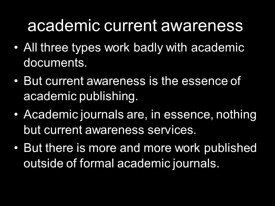 academic current awareness