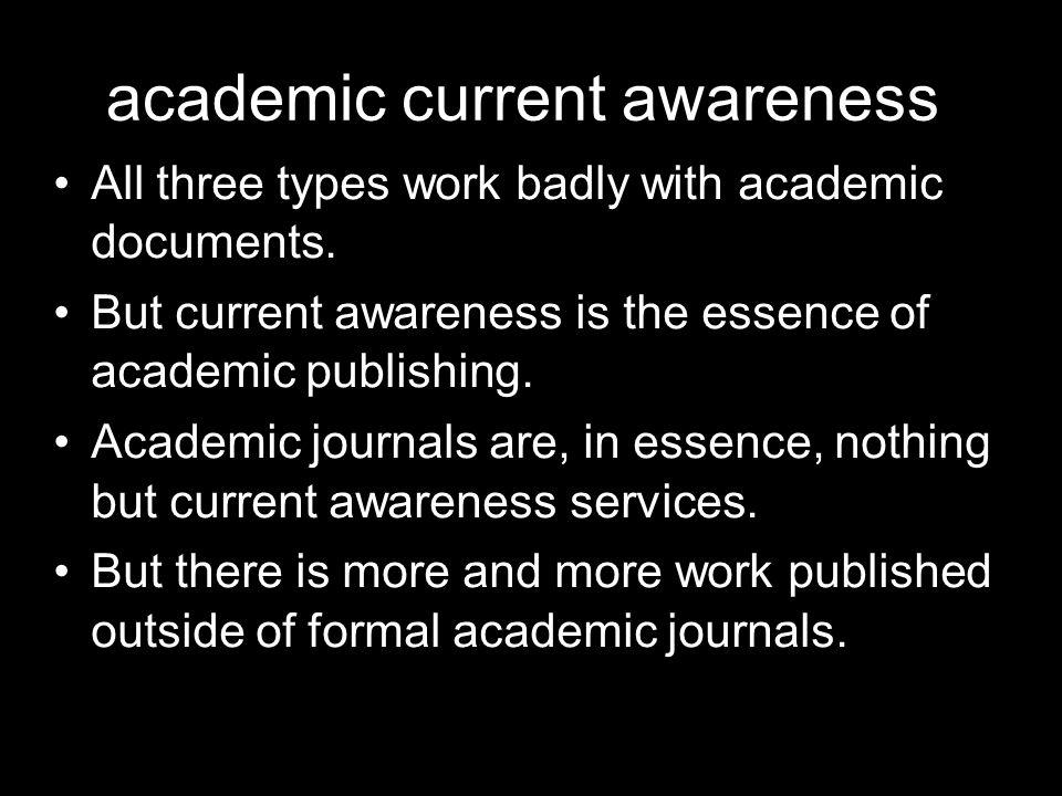 academic current awareness