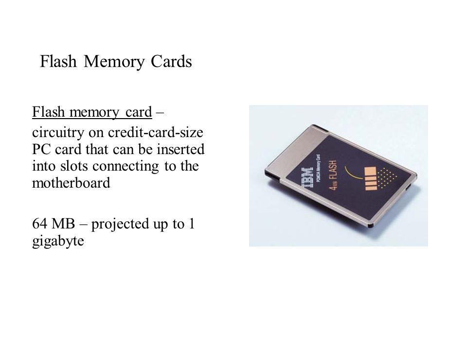 Flash Memory Cards Flash memory card –
