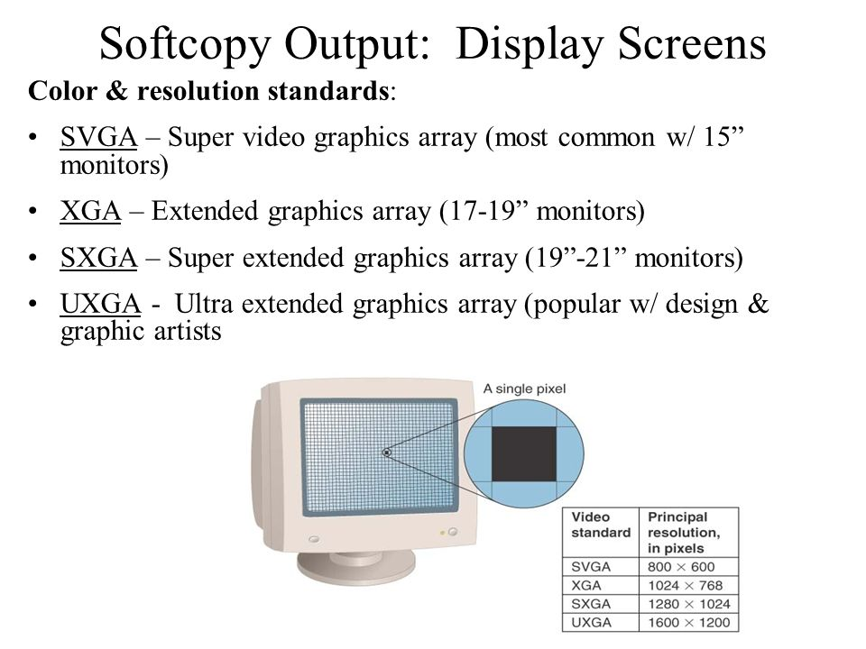 Softcopy Output: Display Screens