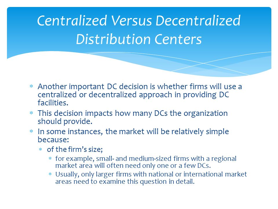 centralized and decentralized organizations essay Chapter 7 organizational structure and change more likely to be attracted to decentralized organizations because centralized organizations assign decision.
