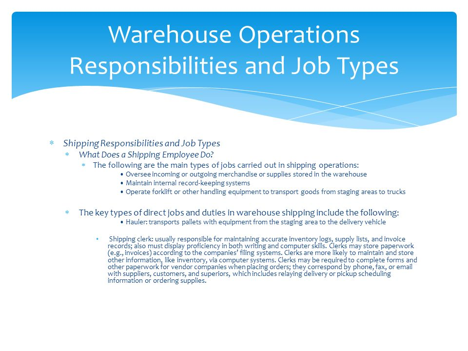 Learning Block 1 Warehousing And Its Function James