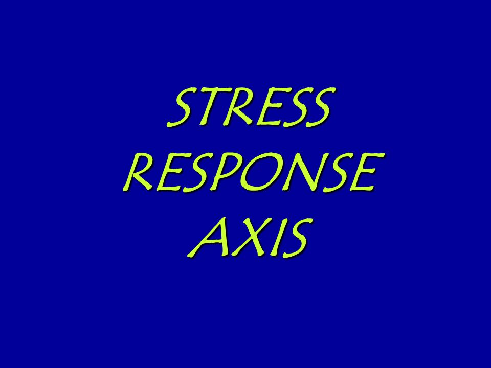 STRESS RESPONSE AXIS
