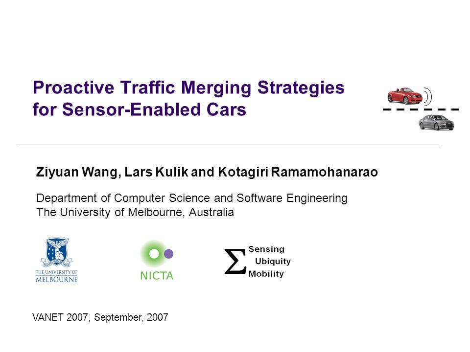 Proactive Traffic Merging Strategies for Sensor-Enabled Cars
