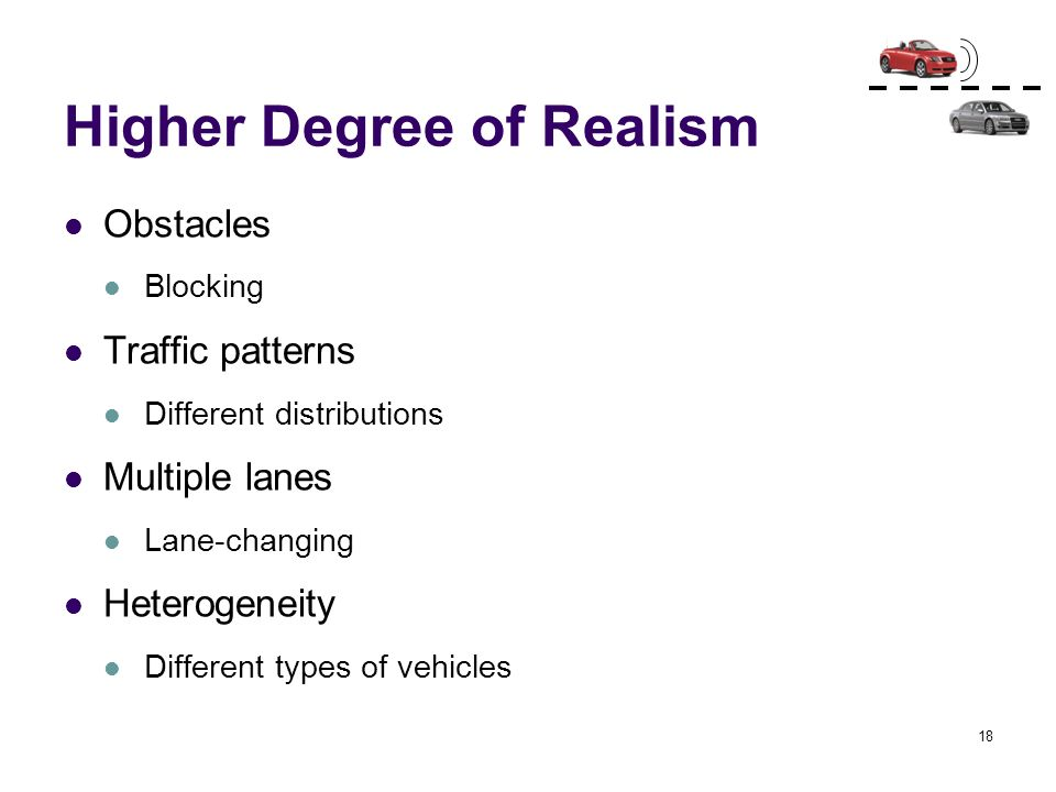 Higher Degree of Realism