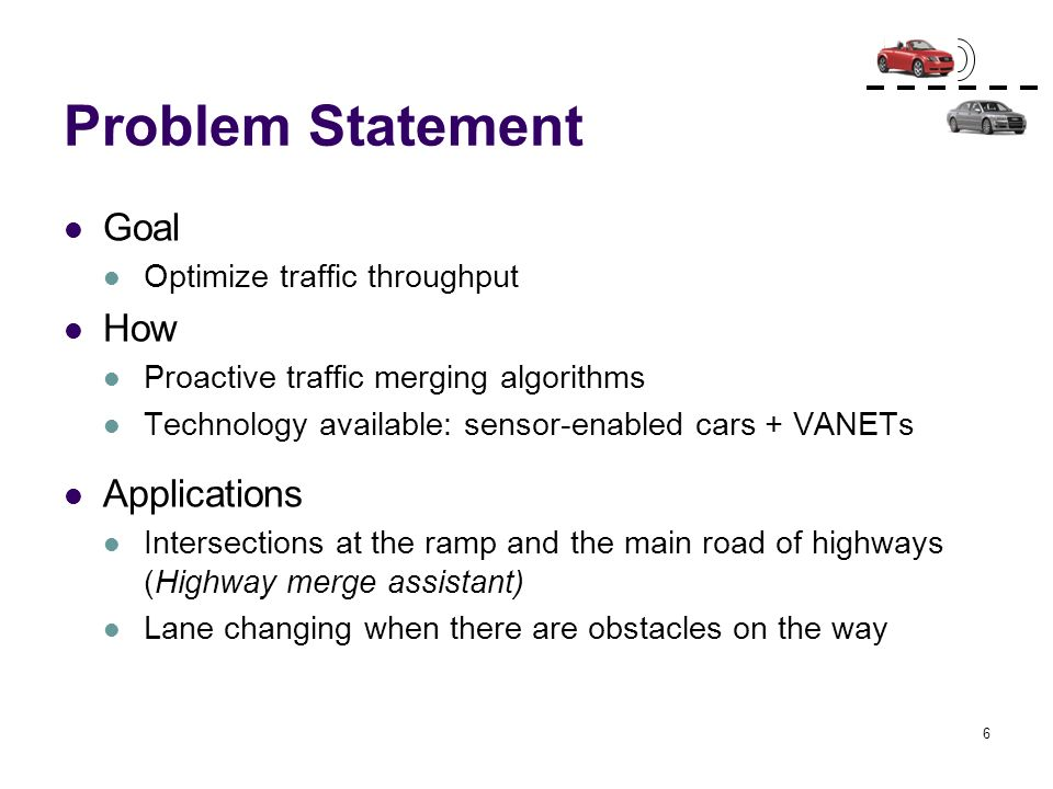 Problem Statement Goal How Applications Optimize traffic throughput