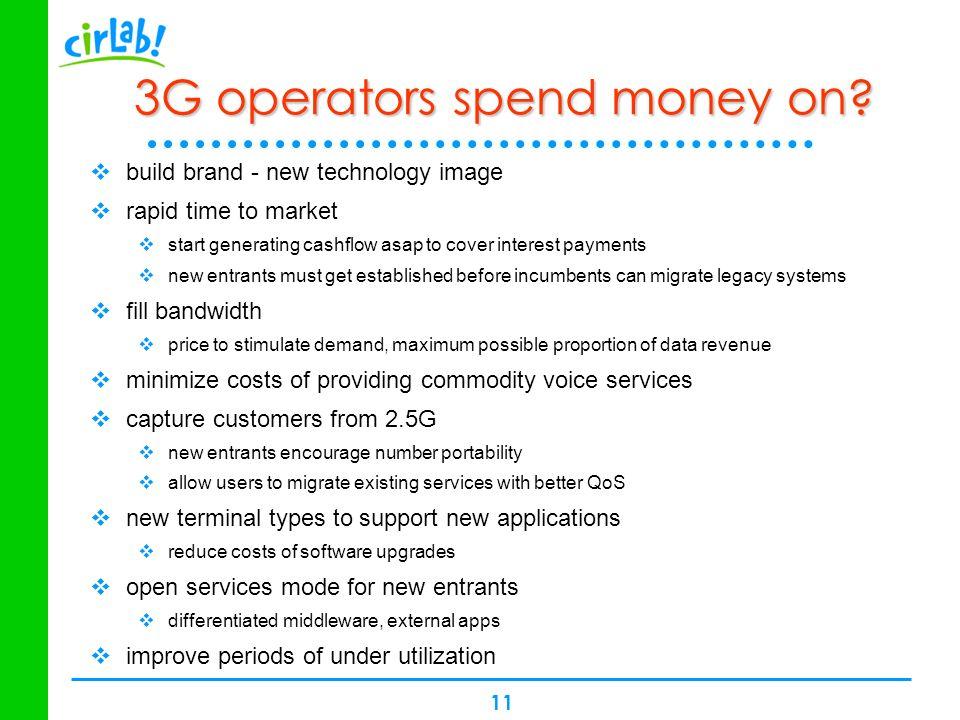 3G operators spend money on
