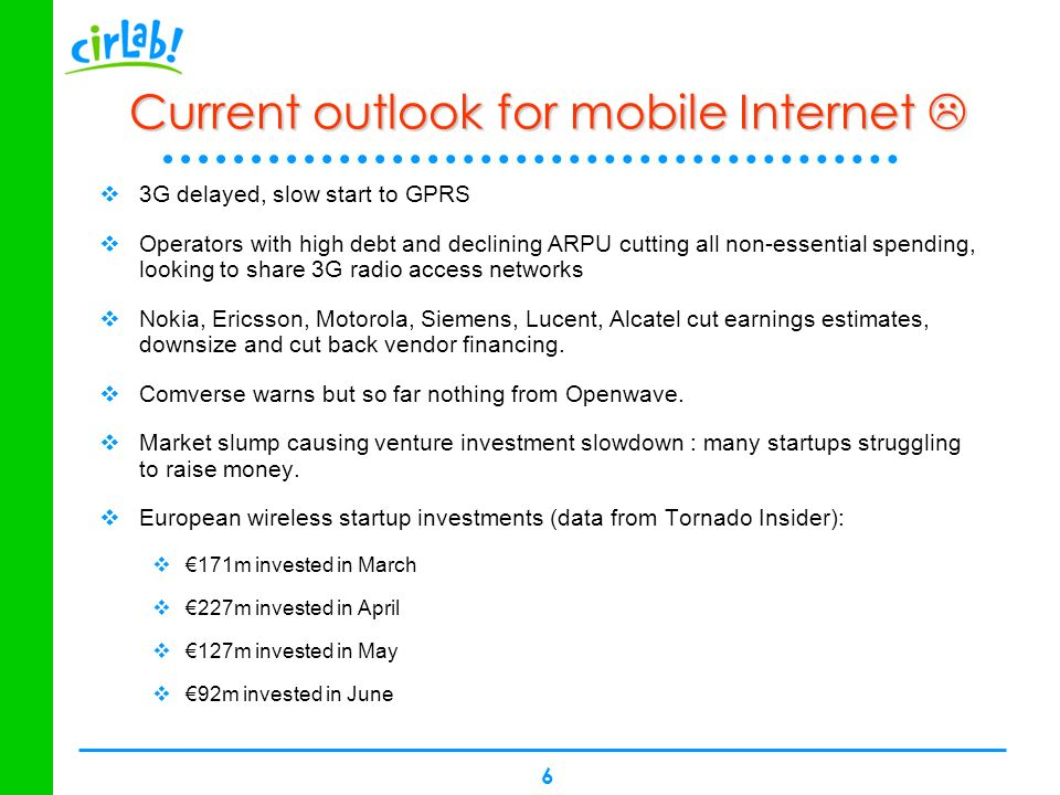 Current outlook for mobile Internet 