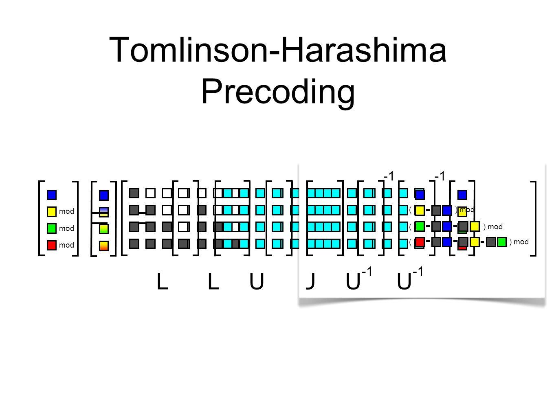 Tomlinson-Harashima Precoding