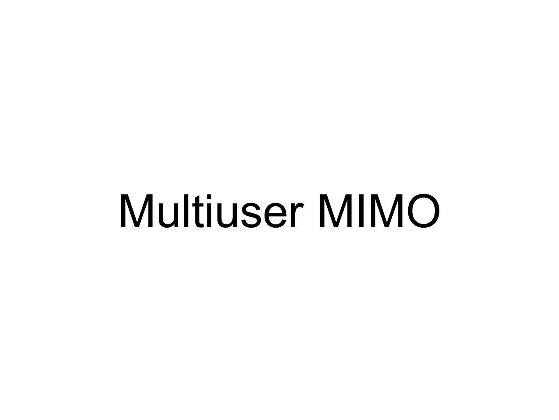 Multiuser MIMO