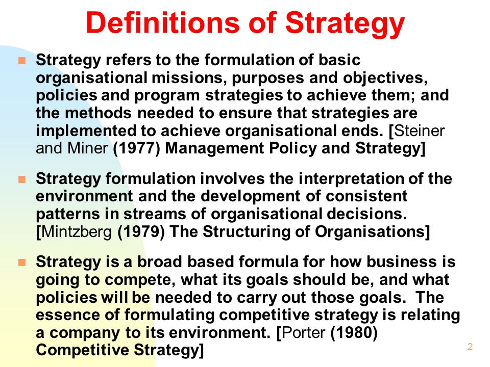 Strategic Management & Strategic Planning