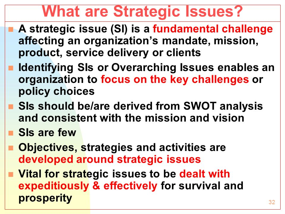 How to Identify Strategic Issues (4 mins)