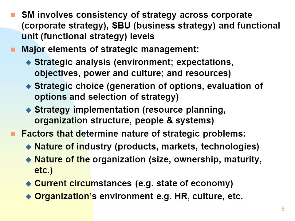strategy implementation organization strategy evaluation I shall discuss what strategy is, how it can be evaluated, and how, by evaluating its strategy, a management can do much to assure the future of the enterprise of a strategy is extremely easy to grasp, working out an agreed-upon statement for a given company can be a fundamental contribution to the organization's future.