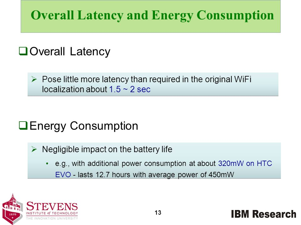 Overall Latency and Energy Consumption