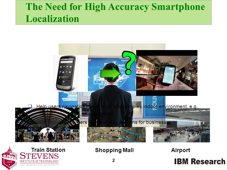 The Need for High Accuracy Smartphone Localization