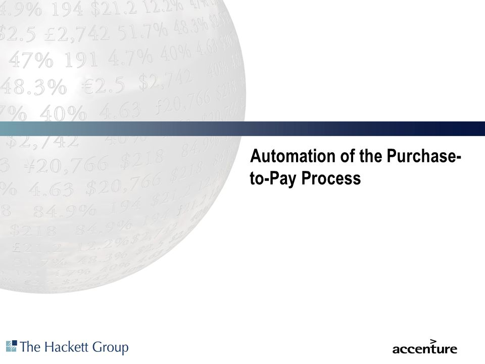 Automation of the Purchase-to-Pay Process