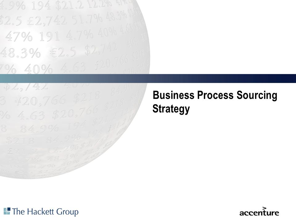 Business Process Sourcing Strategy