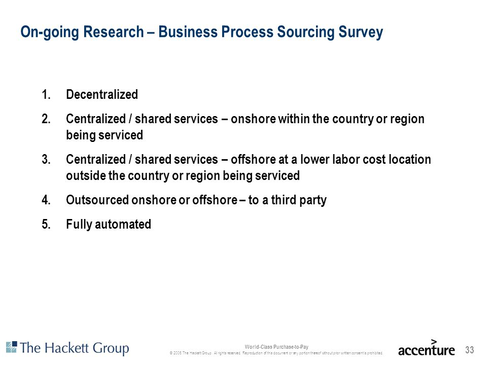 On-going Research – Business Process Sourcing Survey