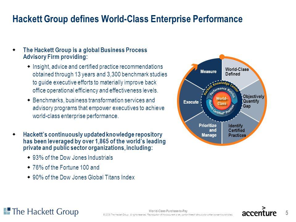 Hackett Group defines World-Class Enterprise Performance