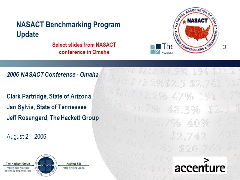 NASACT Benchmarking Program Update