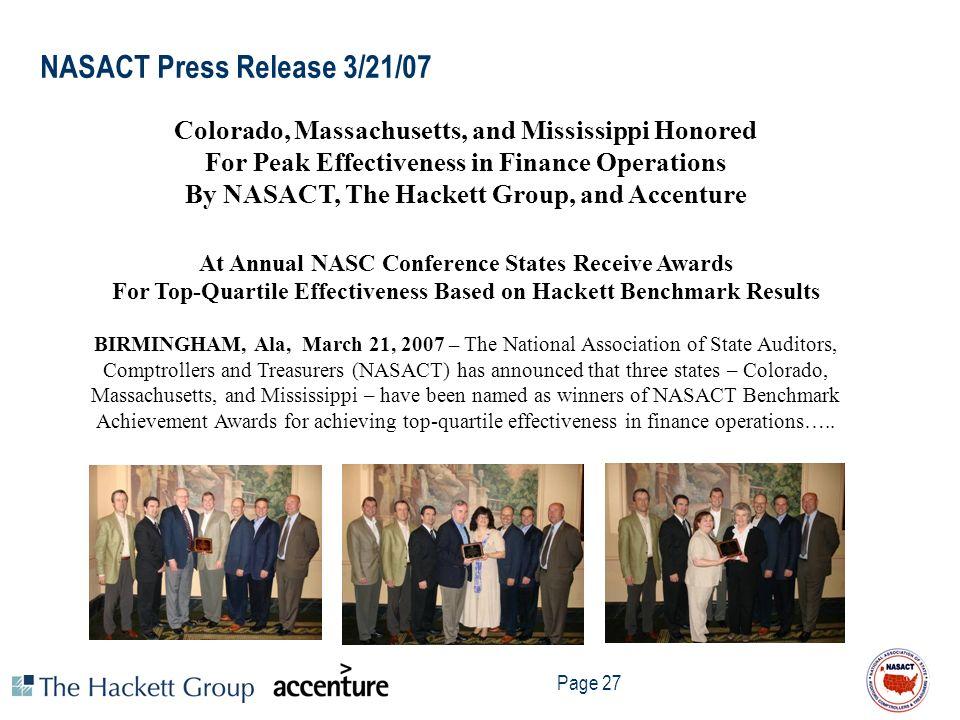 NASACT Press Release 3/21/07