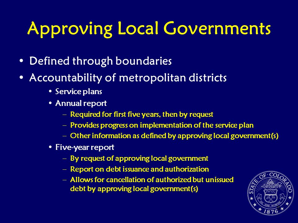 Approving Local Governments
