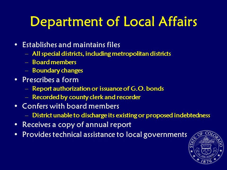 Department of Local Affairs