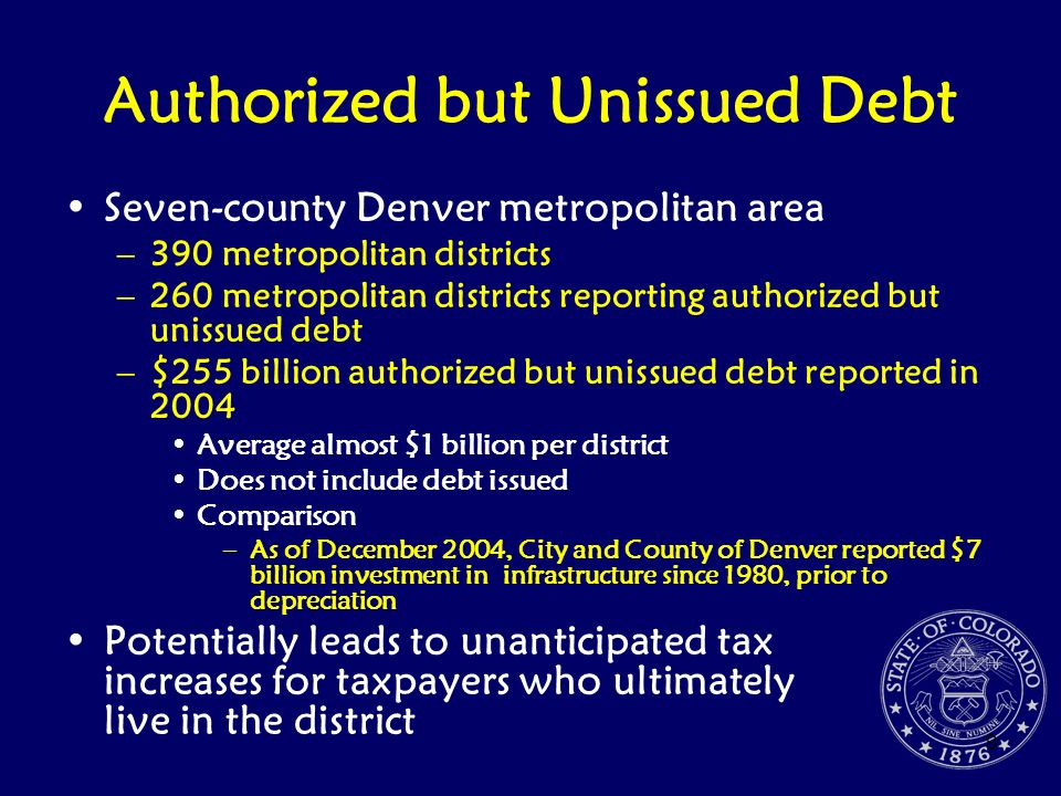 Authorized but Unissued Debt