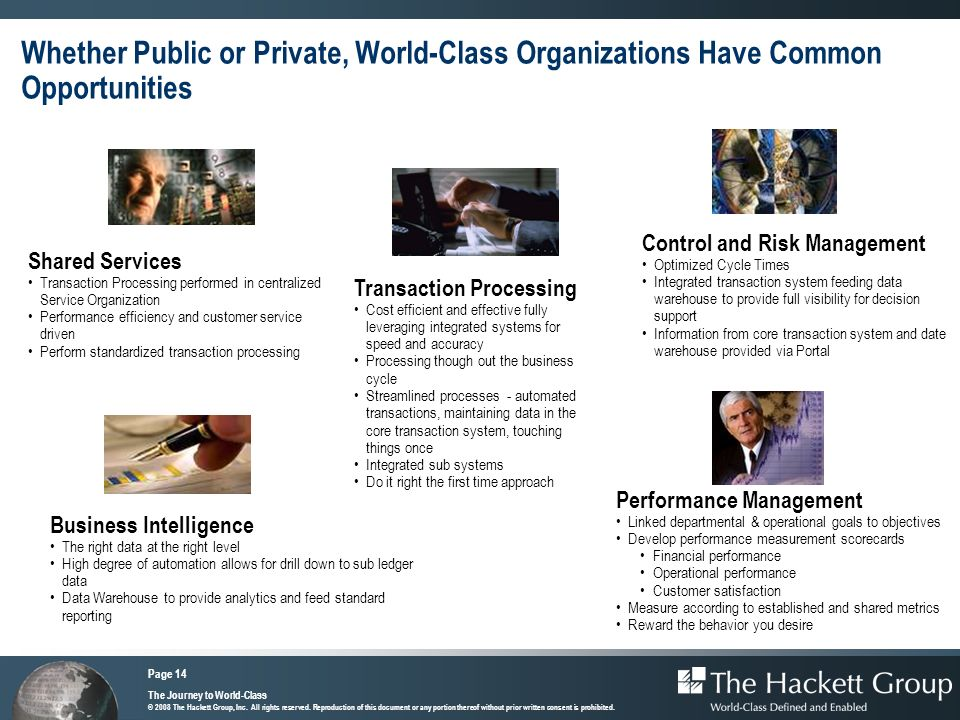 Whether Public or Private, World-Class Organizations Have Common Opportunities