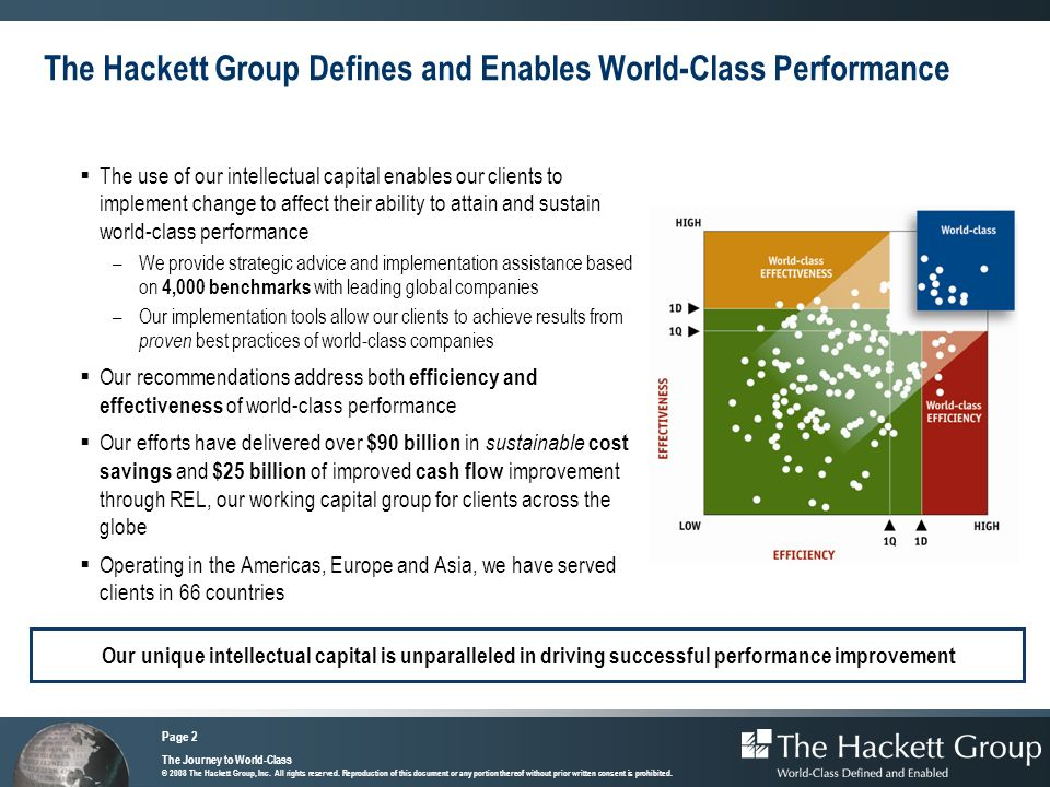 The Hackett Group Defines and Enables World-Class Performance