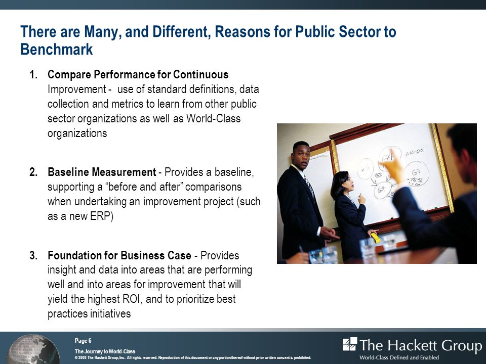 There are Many, and Different, Reasons for Public Sector to Benchmark