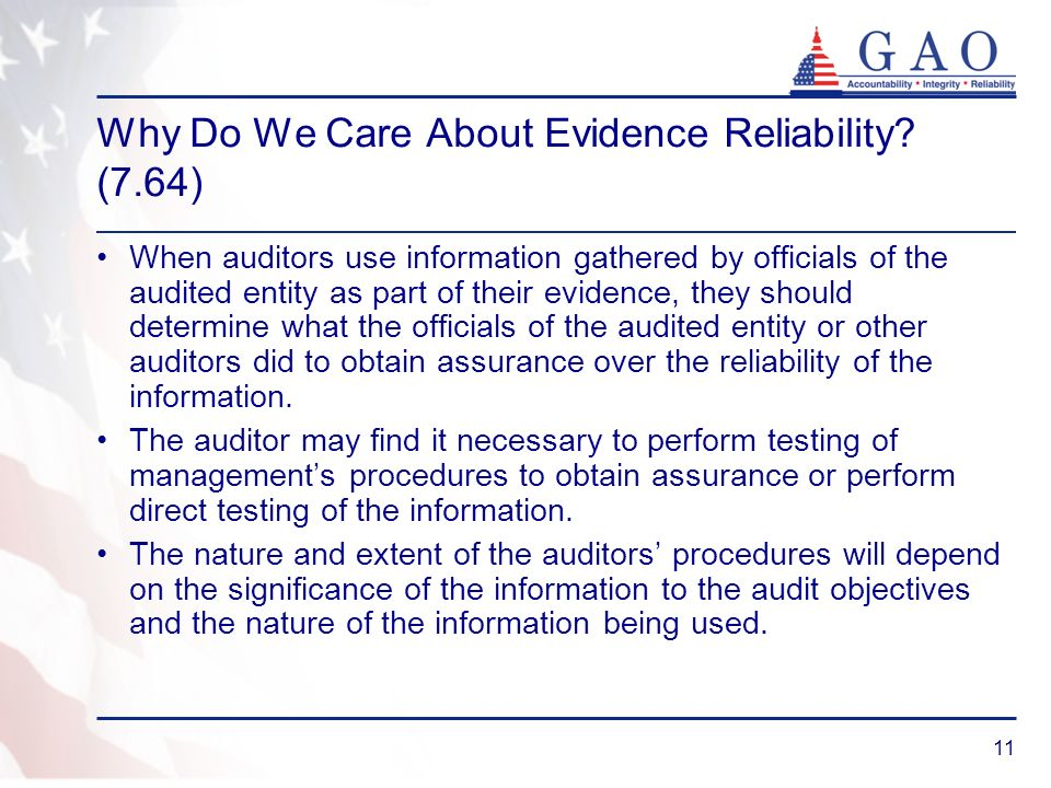 Why Do We Care About Evidence Reliability (7.64)