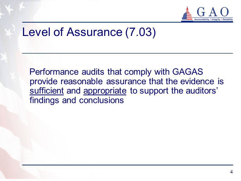 Level of Assurance (7.03)