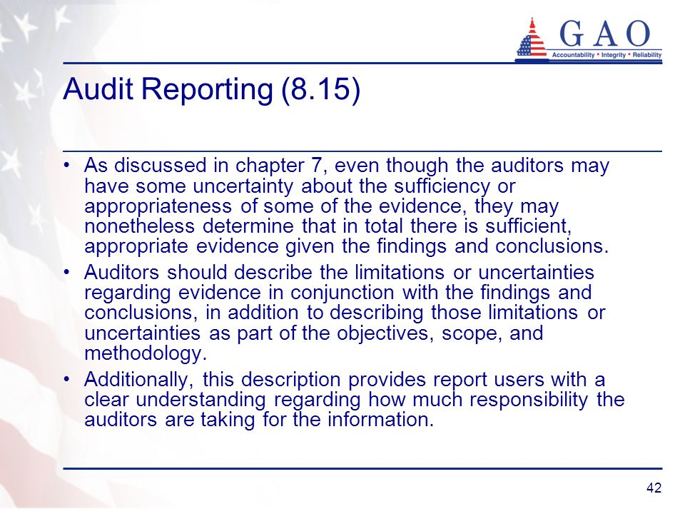 Audit Reporting (8.15)